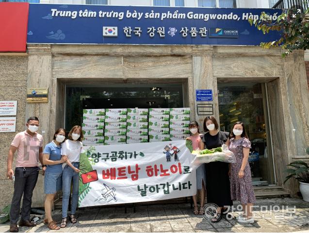 강원유통업협회, 베트남에 양구곰취 수출